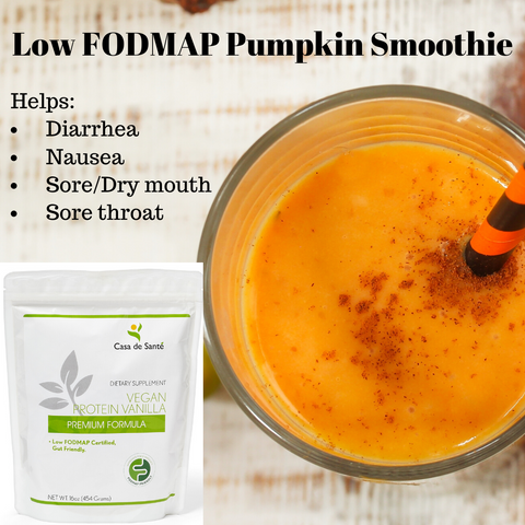 Low FODMAP Pumpkin Pie Smoothie