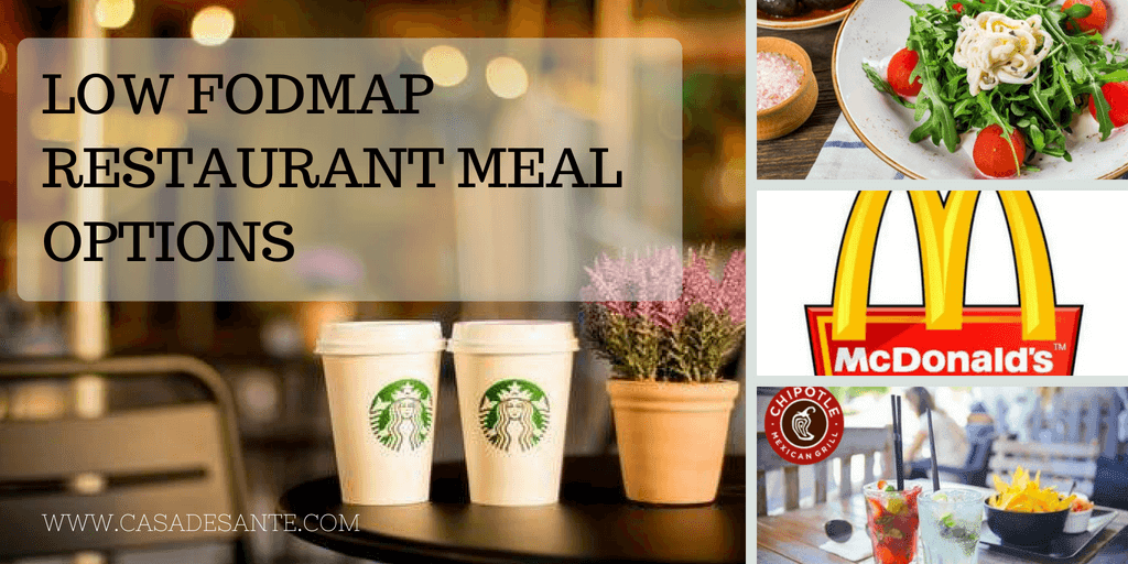 FODMAP Friendly Options at Fast Food Restaurants