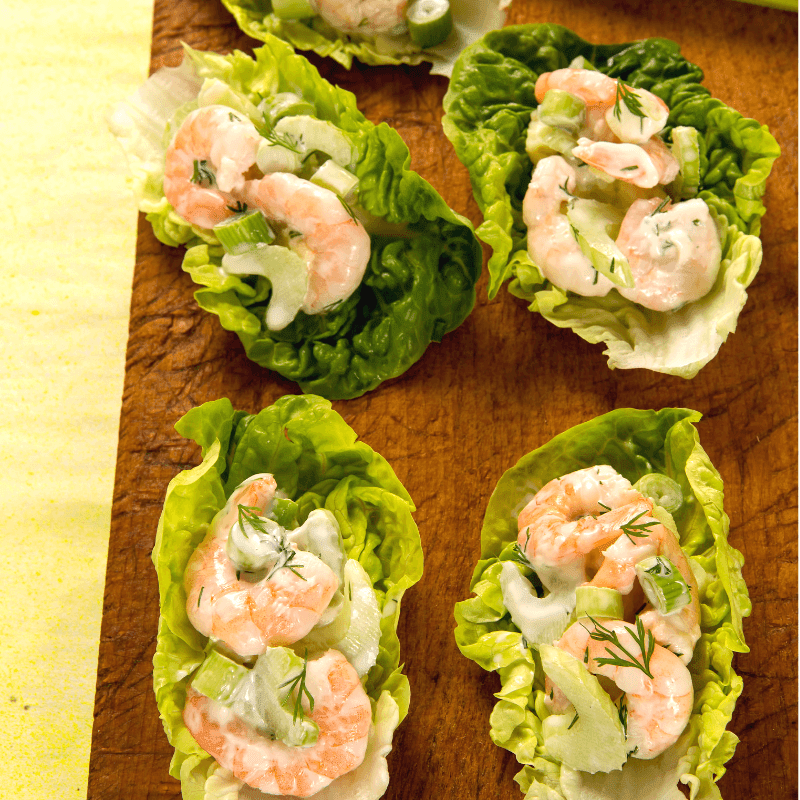 Low FODMAP Shrimp Ceviche Lettuce Cups – Kid Friendly Recipe