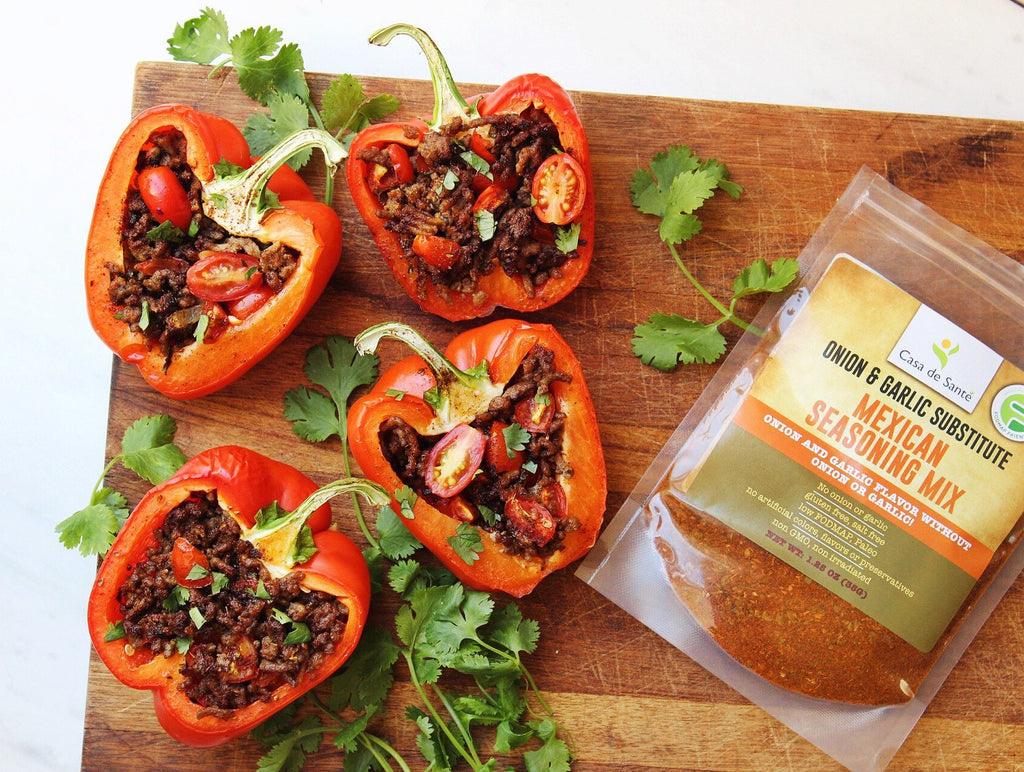 Low FODMAP Stuffed Red Peppers Recipe