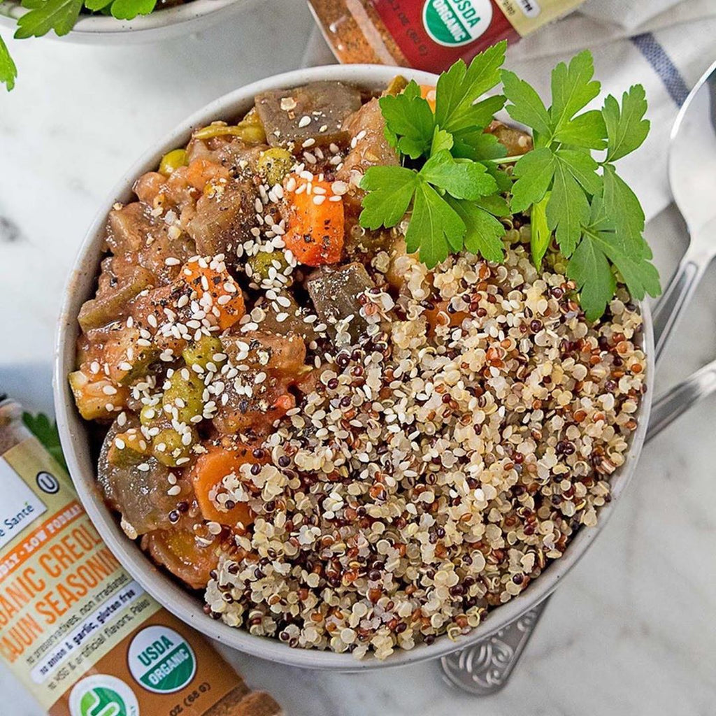 Low FODMAP Vegan Spice Eggplant Stew with Quinoa Recipe