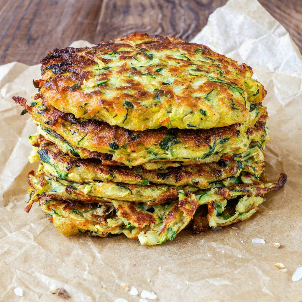 Low FODMAP Zucchini Fritters Recipe