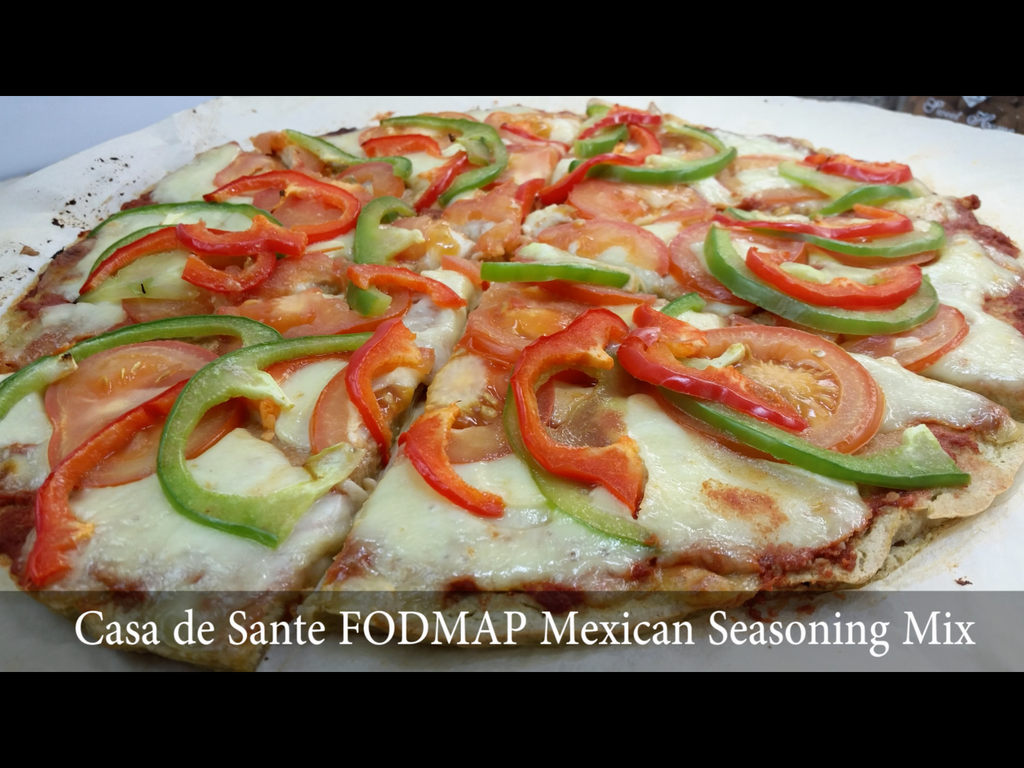 Free low fodmap meal plans and low fodmap recipes tagged mexican low fodmap vegetarian quinoa pizza recipe video forumfinder Image collections