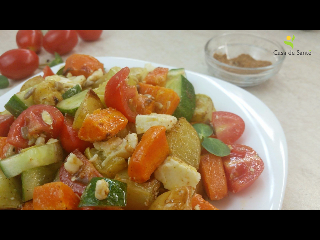 Low FODMAP Vegetarian Tomato Cucumber Feta Salad Recipe (Video)