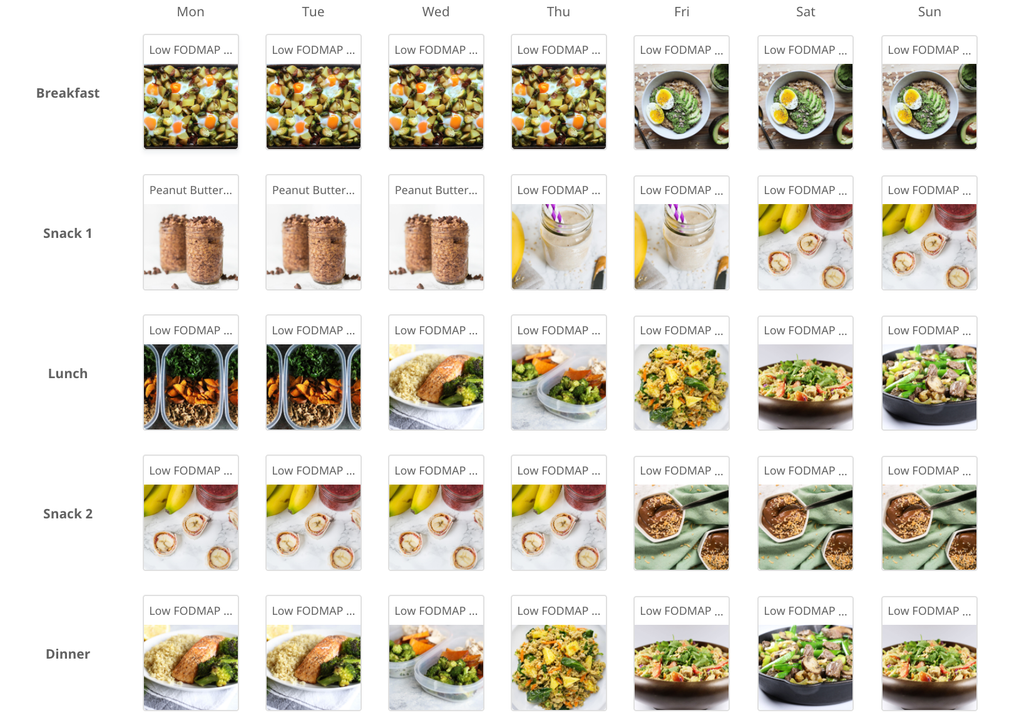 Low FODMAP High Energy Meal Plan