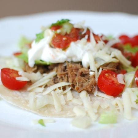 Instant Pot Low FODMAP Shredded Beef Tacos Recipe