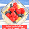 Low FODMAP Quinoa Protein Pudding  (Vegan, Egg Free)