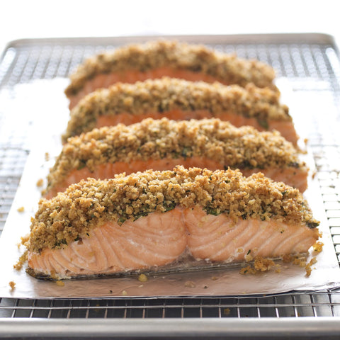 Low FODMAP Cedar Planked Salmon With Grilled Zucchini Recipe