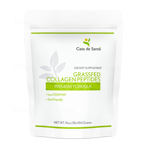 Low FODMAP Grassfed Collagen Peptides for IBS & SIBO, Gut Friendly, Gluten, Lactose, Soy, Sugar & Grain Free, No Carb, All Natural, Non GMO, Keto