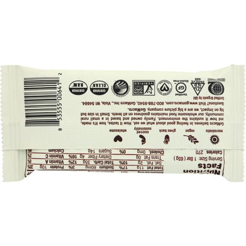 GOMACRO: Low FODMAP BAR DARK CHOCOLATE CHIP ALMOND (2.300 OZ)