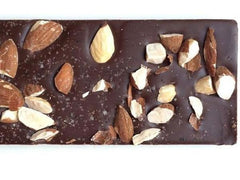 Chocolate Almond & Maine Sea Salt Bark - Black Dinah Chocolatiers, Vegan, Gluten-free, 2oz.