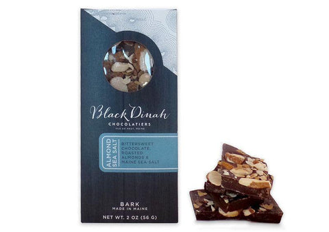 Chocolate Almond & Maine Sea Salt Bark - Black Dinah Chocolatiers, Vegan, Gluten-free, 2oz.-casa de sante