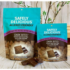 Dark Bites | Safely Delicious Allergy Friendly Snacks - Gluten Free, Dairy Free, Vegan, Nut Free, Soy Free (1oz bag)-casa de sante