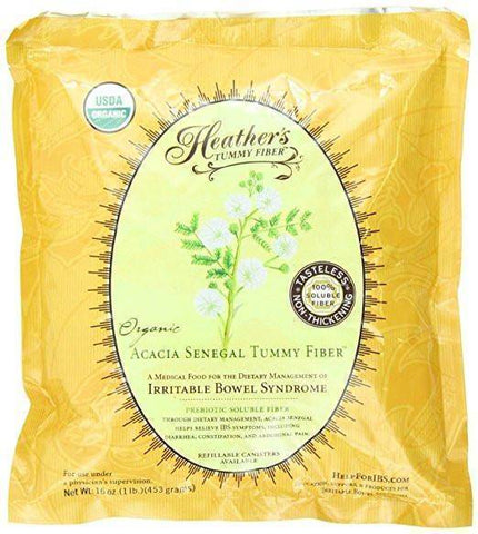 Heather's Tummy Fiber ™ Organic Acacia Senegal Pouch, Low FODMAP Fiber-casa de sante