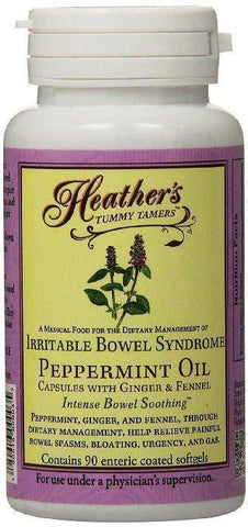 Heather's Tummy Tamers ™ Peppermint Oil Capsules (90 per bottle) for IBS-casa de sante