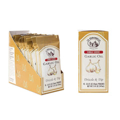La Tourangelle Garlic Infused Garlic Oil (Single Serve Pouch, 0.5oz) - Low FODMAP-casa de sante