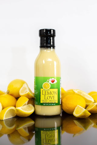 Lemon Dressing- Low FODMAP, No Onion No Garlic, Gluten and Dairy Free, Artisan Salad Dressing, 13fl.oz. (384ml)-casa de sante