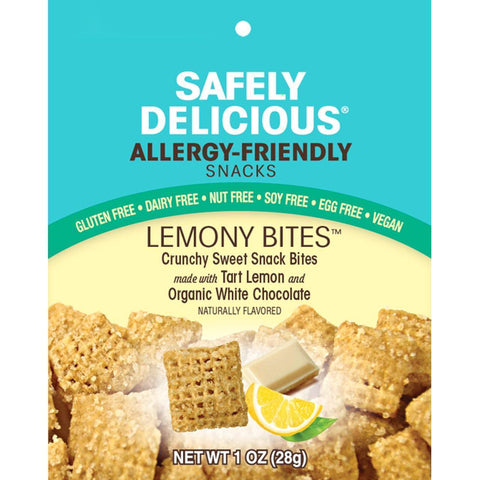 Lemony Bites | Safely Delicious Allergy Friendly Snacks - Gluten Free, Dairy Free, Vegan, Nut Free, Soy Free (1oz bag)-casa de sante
