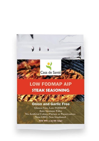 Low FODMAP AIP Steak Seasoning Spice and Rub Mix - Gluten Free, Nightshade Free Steak Seasoning-no onion no garlic low fodmap spice-casa de sante