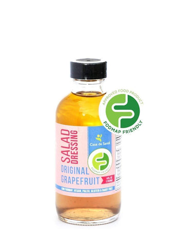 Low FODMAP Certified AIP Salad Dressing (Original Grapefruit) - Essential Oil Balsamic Vinaigrette No Onion No Garlic Artisan Salad Dressing, Paleo-no onion no garlic low fodmap salad dressing-casa de sante