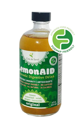 Low FODMAP Certified LemonAID Ayurvedic Digestive Drink - Original (8oz, 6 pack)-LemonAID-casa de sante
