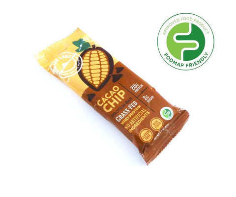 Low FODMAP Certified Protein Bar, Cacao Chip, 6 pack-protein snack bar-casa de sante