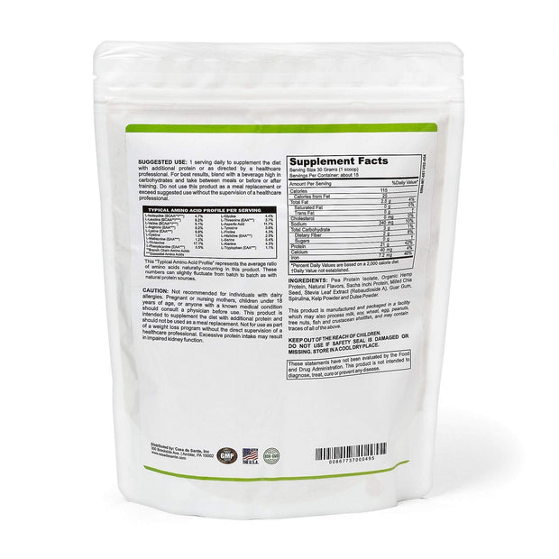 Low FODMAP Certified Protein Powder Vegan, Gluten Free, Dairy Free, Soy Free, Grain Free, Sugar Free, All Natural, Non GMO, Low Carb 1