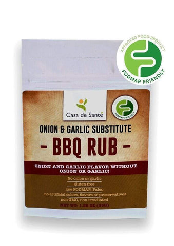 Low FODMAP Certified Spice Mix (BBQ Seasoning Rub) - No Onion No Garlic, Gut Friendly Artisan Onion and Garlic Substitute Seasonings, Paleo-no onion no garlic low fodmap spice-casa de sante