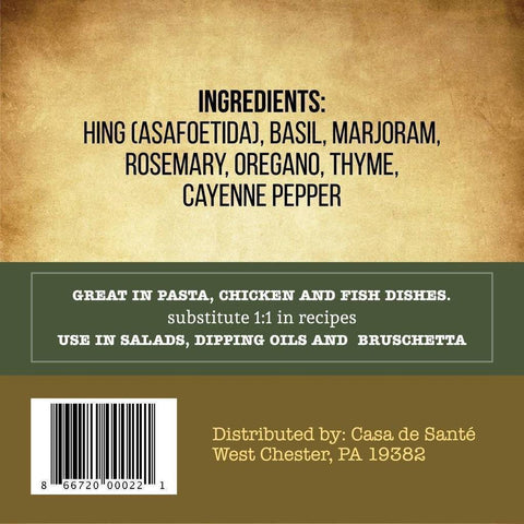 Low FODMAP Certified Spice Mix (Tuscan Herb) - No Onion No Garlic Gut Friendly Artisan Onion and Garlic Substitute Seasonings, Paleo,-no onion no garlic low fodmap spice-casa de sante