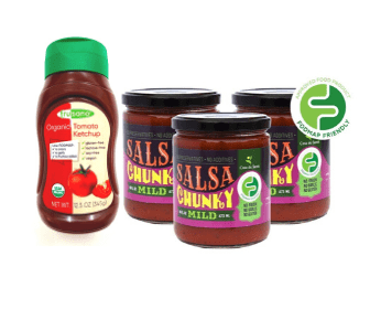 Low FODMAP Condiment Pack - 3-pack Salsa & Ketchup, No Onion No Garlic, Low Fructose, Gluten free, Lactose free, Vegan