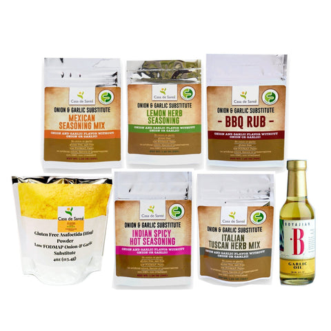 Low FODMAP Garlic Substitute Bundle-no onion no garlic low fodmap spice-casa de sante