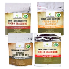 Low FODMAP Holiday Spice Mixes -No Onion No Garlic, Gut Friendly, Onion and Garlic Substitute Seasonings, Paleo, 4 Pack