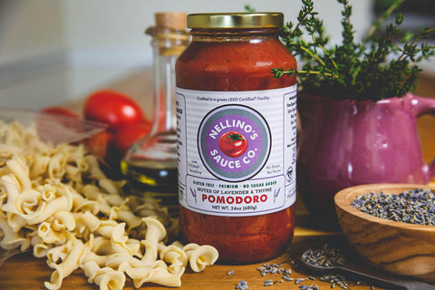Low FODMAP Nellino's Pomodoro Pasta Sauce  - No Onion No Garlic, No Additives/Preservatives, 24oz