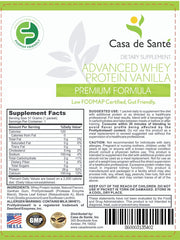 Low FODMAP Protein Powder, Gluten Lactose Soy Sugar & Grain Free Low Carb All Natural Whey (WPI) ProHydrolase 3X Protein Absorption Vanilla (Sample)