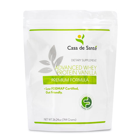 Low FODMAP Protein Powder, Gluten, Lactose, Soy, Sugar & Grain Free, Low Carb, All Natural, Whey (WPI), ProHydrolase 3X Protein Absorption, Vanilla - casa de sante