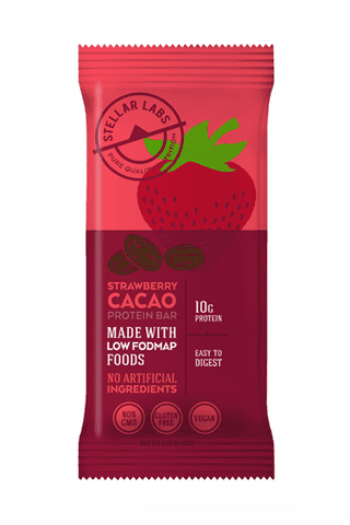 Low FODMAP Protein Vegan Bar, Strawberry Cacao, 6 pack-protein snack bar-casa de sante