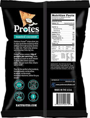 Low FODMAP Protes Protein Chips - Toasted Coconut - High Protein Snacks, Low Carb, Vegan, Gluten-Free, 4oz Bag
