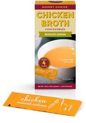Low FODMAP Reduced Sodium Chicken Broth Concentrate, Savory Choice-casa de sante