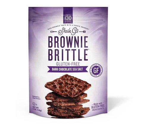 Low FODMAP Snack Brownie Brittle - Dark Chocolate Sea Salt 5oz Bag-casa de sante