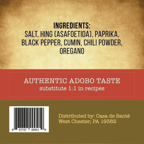Low FODMAP Spice Mix (Adobo Seasoning) - No Onion No Garlic, Gluten Free, Gut Friendly, Artisan Onion and Garlic Substitute Seasonings, Paleo-no onion no garlic low fodmap spice-casa de sante