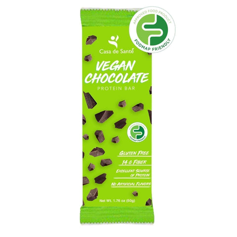 Low FODMAP Vegan Protein Prebiotic Snack Bar – Gluten/Dairy/Soy Free, Paleo, Keto, Low Carb, Resistant Starch & Soluble Fiber, (Chocolate, 12 Bars)-protein snack bar-casa de sante