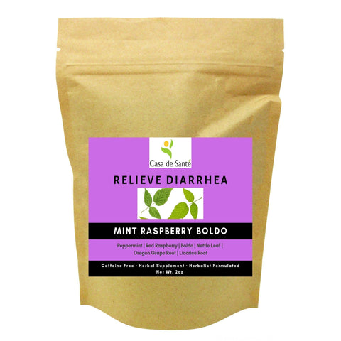 Mint Raspberry Boldo Herbal Tea - Digestive Tea for Diarrhea Relief-Digestive Herbal Tea-casa de sante