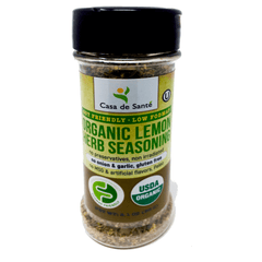 Organic Low FODMAP Certified Spice Mix (Lemon Herb) - No Onion No Garlic, Gluten Free, AIP, Low Sodium, No Carb, Keto, Paleo, Kosher-no onion no garlic low fodmap spice-casa de sante