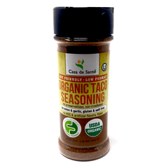 Organic Low FODMAP Certified Spice Mix (Mexican/Taco Seasoning Mix)- No Onion No Garlic, Gluten Free, No Sodium, No Carb, Keto, Paleo, Kosher-no onion no garlic low fodmap spice-casa de sante