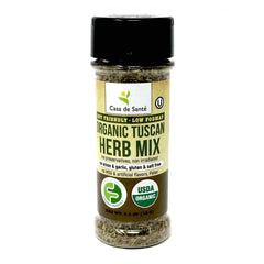 Organic Low FODMAP Certified Spice Mix (Tuscan Herb ) - No Onion No Garlic, Gluten Free, AIP, No Sodium, No Carb, Keto, Paleo, Kosher - casa de sante