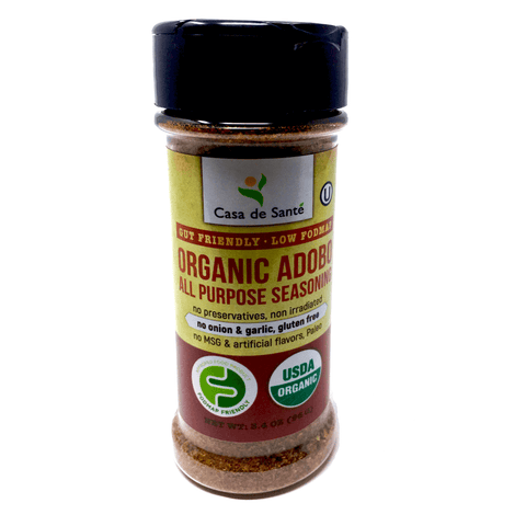 Organic Low FODMAP Spice Mix (Adobo Seasoning) - No Onion No Garlic, Gluten Free, Low Sodium, No Carb, Keto, Paleo, Kosher-no onion no garlic low fodmap spice-casa de sante