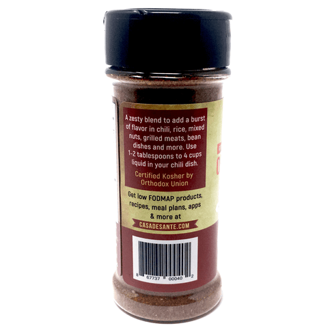 Organic Low FODMAP Spice Mix (Chili Seasoning) - No Onion No Garlic, Gluten Free, No Sodium, No Carb, Keto, Paleo, Kosher-no onion no garlic low fodmap spice-casa de sante