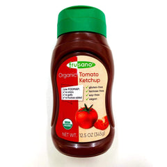 Organic Low FODMAP Tomato Ketchup (300ml) -  No Onion No Garlic, Low Fructose, Gluten free, Lactose free, Vegan