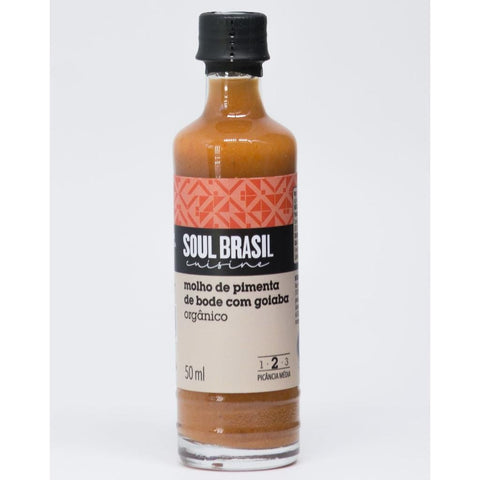 Soul Brasil Organic Guava and Bode Chili Pepper Hot Sauce (50ml) - No Onion No Garlic, Gluten-Free, Allergen-Free, Vegan, Non-GMO, Natural, Organic, Preservative-Free-casa de sante