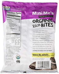 Woodstock Mini Me's - Organic Rice Bites Dark Chocolate, Sea Salt - 2.1oz